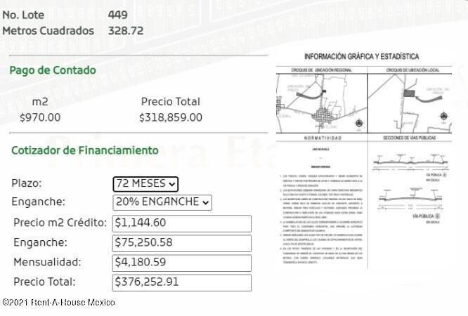 Terreno Yucatan>Chicxulub Pueblo>Chicxulub - Venta:376.253 Pesos - codigo: 22-520