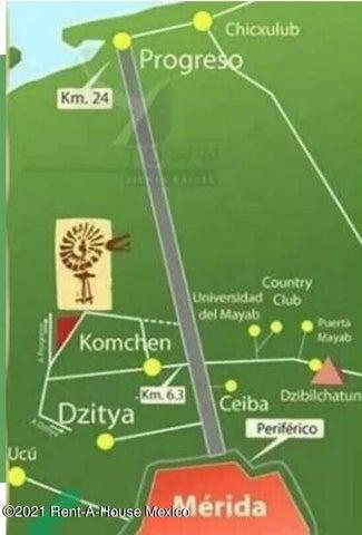 Terreno Yucatan>Merida>Komchen - Venta:217.300 Pesos - codigo: 22-978