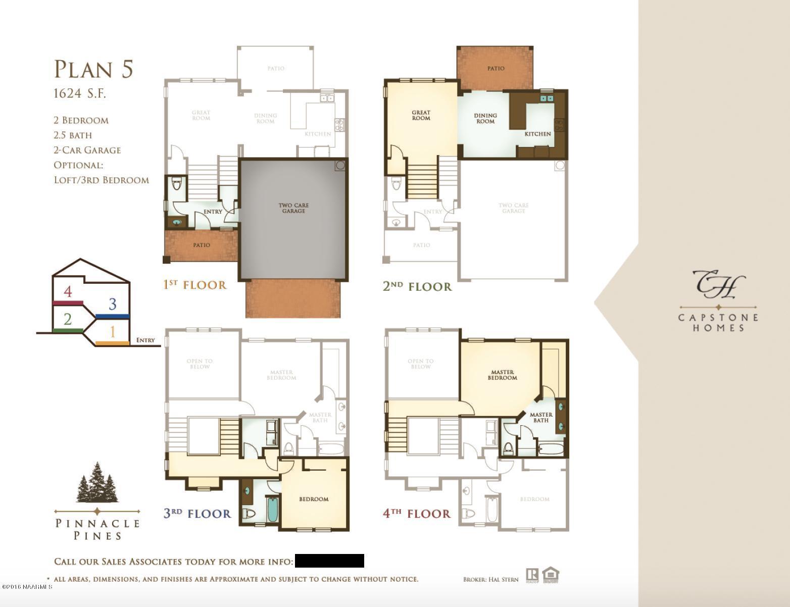 Plan 5 Pinnacle Pines Flagstaff AZ 86001 – Pinnacle Homes Floor Plans