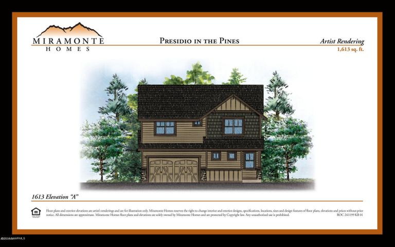1613 Plan Elevation A, Base Price, Flagstaff, AZ 86001