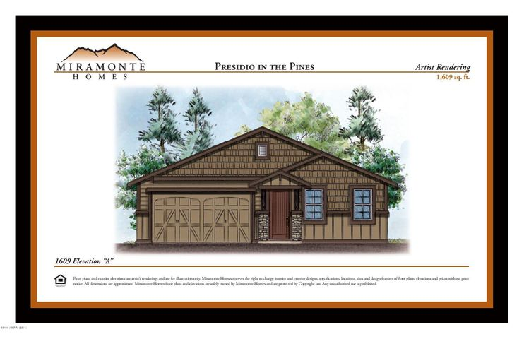 1609 Plan Elevation A, Base Price, Flagstaff, AZ 86001