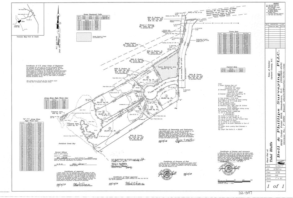 Lot 4 Tidal Bluffs Court, Peletier, NC, 28584 | MLS #100127256