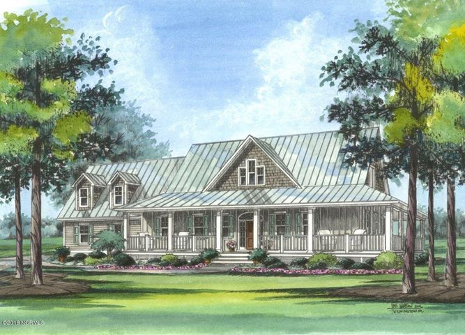 Sample Rendering. Please note that proposed home includes Shingle roof, not metal as seen in photo.