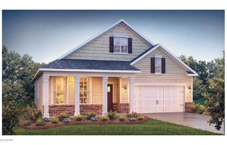 The Dover with brick accented exterior!