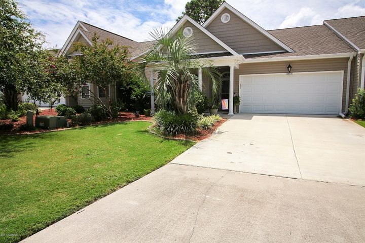 Popular end unit with double car garage.