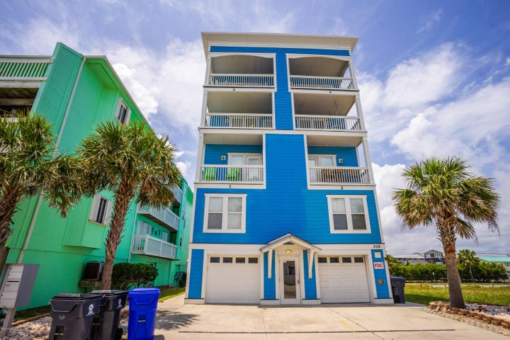 Great 4 Bedroom/3.5 Bath Second Row Condo with Ocean and Lake Views--Only 4 units in this great condominium, unit 1 is lower on the left with garage level and two additional levels
