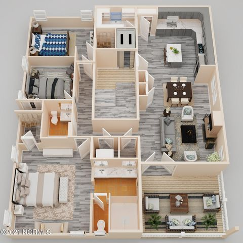 Artist's Rendering of the Floorplan! Large Master Suite, Open Living Area! Elevator! Fireplace!