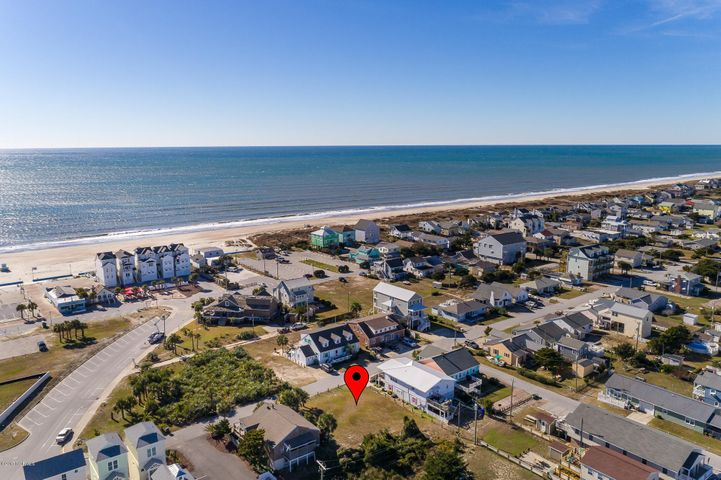 Oceanside lot with BIG POTENTIAL -- 8 bedroom septic permit in hand for this double lot (80' x 100') close to the Circle for easy beach access, restaurants and activities. Per the Town of Atlantic Beach: a one-story building would be able to cover 3200 sf, a two-story building can cover 2400 sf, a three-story building 2133 sf and a four-story can cover 2000 sf.  Another building option per the Town would be to subdivide into 2 separate lots; each lot would have a new pin number and be offered for $225,000 for each lot.