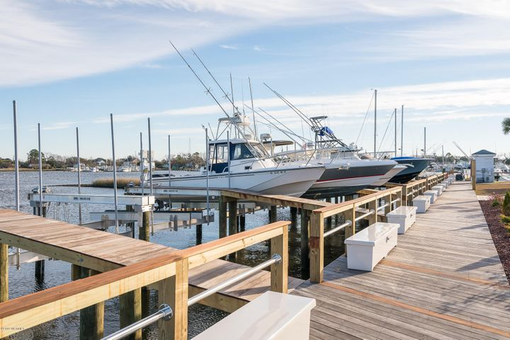 Town Creek Marina Boat Slip E-69 is a 35' X 13' slip (width as indicated on plat map) which is located in the only full service marina in Beaufort. Easy access to the Beaufort Inlet, the ICW, sport fishing and recreational waters. Top quality floating docks, shore power (30/50/100 amp), Ship's store, softened water, bathrooms, showers, laundry facilities, bulk ice, diesel and gas fuel plus much, much more! See the Special Features sheet under documents. Enjoy your time on the water then dine in style at City Kitchen which is the on-site restaurant and waterfront bar. Town Creek Marina is also proximate to the downtown area of historic Beaufort for additional dining, shopping and entertainment. The Town Creek Marina boat slips were condominiumized in order to convey ownership as real property; each boat slip has been assigned a tax parcel number and will be conveyed by a deed.