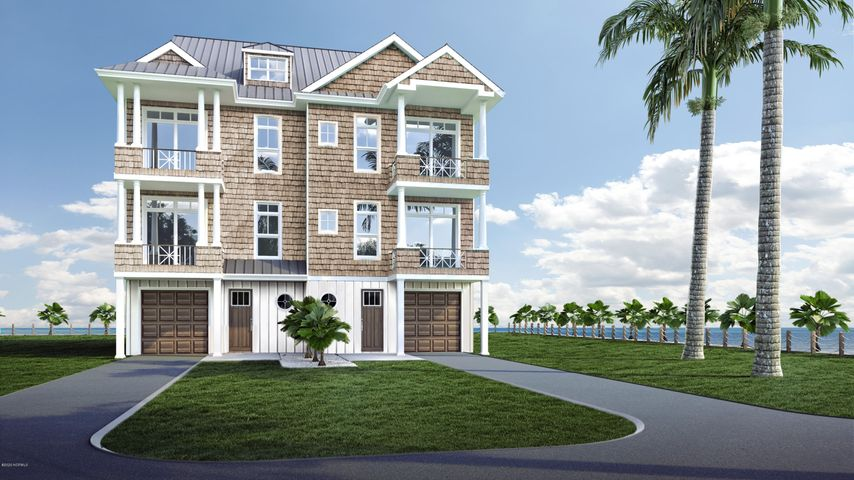 Located on Bogue Sound just over the bridge in Atlantic Beach, these brand new 3-story townhomes will offer convenient boat slips with 15,000 lb lifts at your doorstep, one-car garages and plenty of indoor and outdoor space along with unrivaled sunset views!  Lots 1-3 and Lots 8-9 have the option of the Shackleford or the Sand Dollar floor plan (see documents) each with 2,220 square feet, ample porches and the option of a 3-stop elevator for an additional $21,000. Each townhome offers 2 bedrooms plus a flexible use room.  The Shackleford Plan features 2 bedrooms, each with a private bath and covered porch, on the top-level; the mid-level offers the living, dining, kitchen and 1/2 bath; the ground level has an entry, flex-room and a full bath. The Sand Dollar Plan features the living areas on the top-level; bedrooms mid-level and flex room with bath on ground level. Construction is underway -- see documents for all details of the site, exterior and interior features