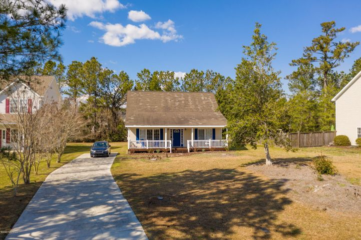 A very affordable cute Cape Cod in the sought out Croatan School district. Lots of updates make this open plan very charming . Rare find at this price point and is being sold as is.  Master on main floor. Large open floor plan with updated kitchen. Extra loft area for an extra bed space or office/flex space. Nice size porch and shed is an extra plus! Community has a dock, so grab your pole! This is a must see for a budget buyer but wants more for their money.  Hurry, will not last long!  Washer and dryer are negotiable.