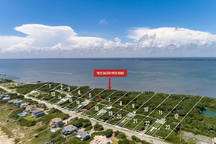 New subdivision accepting reservations! Roosevelt Cove consists of 1 to 3 acre ''estate properties'' that each include two buildable lots: one sound front and one 2nd row. 2 for the price of 1! In this case, Lot 6 is soundfront & combined with Lot 17 (second row) for one list price. This unique combination allows for several options: build your coastal home on the soundfront lot and a carriage or guest home on the second row lot; build on one lot and sell the other lot as its own entity; or build on one lot now and use the other lot at a later date. Both lots will have a septic permit for a 4 bedroom home (in process). A great opportunity from every angle!
