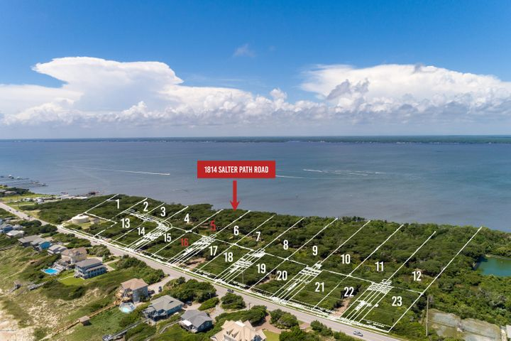 New subdivision accepting reservations! Roosevelt Cove consists of 1 to 3 acre ''estate properties'' that each include two buildable lots: one sound front and one 2nd row. 2 for the price of 1! In this case, Lot 5 is soundfront & combined with Lot 16 (second row) for one list price. This unique combination allows for several options: build your coastal home on the soundfront lot and a carriage or guest home on the second row lot; build on one lot and sell the other lot as its own entity; or build on one lot now and use the other lot at a later date. Both lots will have a septic permit for a 4 bedroom home (in process). A great opportunity from every angle!