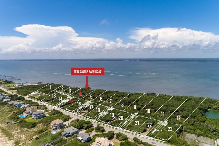 New subdivision accepting reservations! Roosevelt Cove consists of 1 to 3 acre ''estate properties'' that each include two buildable lots: one sound front and one 2nd row. 2 for the price of 1! In this case, Lot 4 is soundfront & combined with Lot 15 (second row) for one list price. This unique combination allows for several options: build your coastal home on the soundfront lot and a carriage or guest home on the second row lot; build on one lot and sell the other lot as its own entity; or build on one lot now and use the other lot at a later date. Both lots will have a septic permit for a 4 bedroom home (in process). A great opportunity from every angle!
