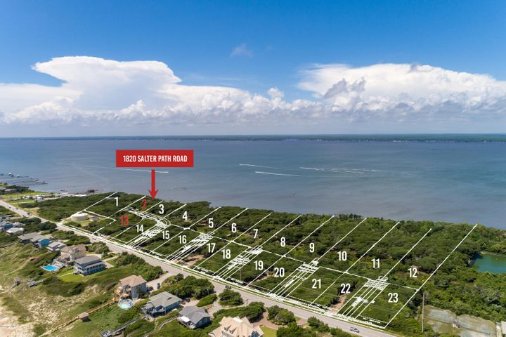 New subdivision accepting reservations! Roosevelt Cove consists of 1 to 3 acre ''estate properties'' that each include two buildable lots: one sound front and one 2nd row. 2 for the price of 1! In this case, Lot 2 is soundfront & combined with Lot 13 (second row) for one list price. This unique combination allows for several options: build your coastal home on the soundfront lot and a carriage or guest home on the second row lot; build on one lot and sell the other lot as its own entity; or build on one lot now and use the other lot at a later date. Both lots will have a septic permit for a 4 bedroom home ( in process). A great opportunity from every angle!