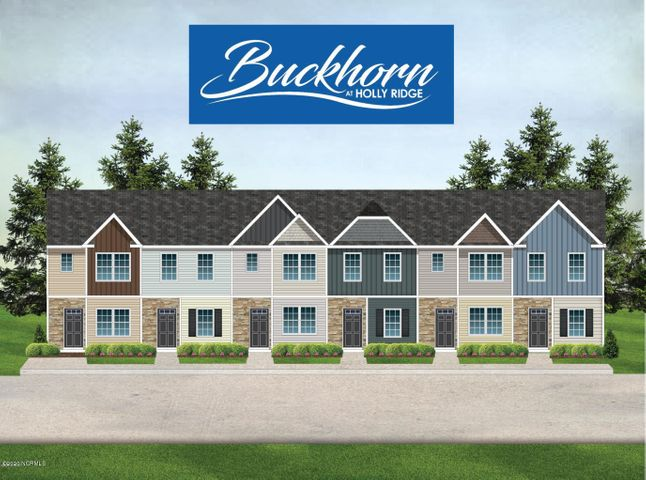 Welcome to the Buckhorn at Holly Ridge located within minutes of the beach and Stone Bay! Schedule your private showing of this beautiful new construction two bedroom and two and a half bath townhome. This unit features an open floor plan with the living room, eat-in kitchen and half bath all located on the first floor. The second floor contains two master bedrooms and the washer/dryer closet.