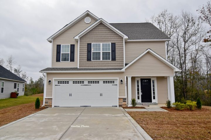 Welcome to Jacksonville's hottest new community, Stateside. Located off of Gum Branch Road behind Stateside Elementary School. All new construction by Onslow County's most trusted and preferred Builder featured in Builder 100/ Top 200 Home Builders in the country. Stateside is 16 miles to Camp Lejeune, 12 miles to New River Air Station and minutes to area schools and shopping. A beautiful new community for active and growing families. Introducing the Susie floor plan... At 1,763 hsf with 3 bedrooms and 2.5 bathrooms, this EXTRA special 2 story home boasts character beyond measure. The exterior is quite charming with easy to maintain vinyl siding, accented with either stone or brick and classic landscape. The covered front porch is just the start to this adorable home. The open living spaces are perfect for entertaining guests and spending quality time with family. The 12' x 15' family room is accented by a ceiling fan and electric fireplace and flows directly to the 10' x 11' dining room. The spacious kitchen keeps the chef of the family close with an open design.  Kitchen is complete with Flat panel, staggered cabinets and stainless steel appliances, to include a microwave hood, smooth top range and dishwasher, granite counter tops and space for bar stools. There is a full sized pantry for extra storage.   A 6 'x 6' laundry room, powder room and coat closet complete the first floor. The 19' x 13' master suite features a ceiling fan and uniquely designed, double walk in closet. The master bathroom has a double vanity topped with cultured marble counters, ceramic tile flooring, separate shower and soaking tub.  All bedrooms are located on the second floor along with a full guest bathroom and linen closet. Enjoy those Carolina evenings on the back patio. 2 car garage. All backed by a one-year builder warranty from a top, local builder. Call today! NOTE: Floor plan renderings are similar and solely representational. Measurements, elevations, and design features, among other things may vary in the final construction. Call to verify. Welcome Home. Upcoming community amenities will include clubhouse area and community pool.