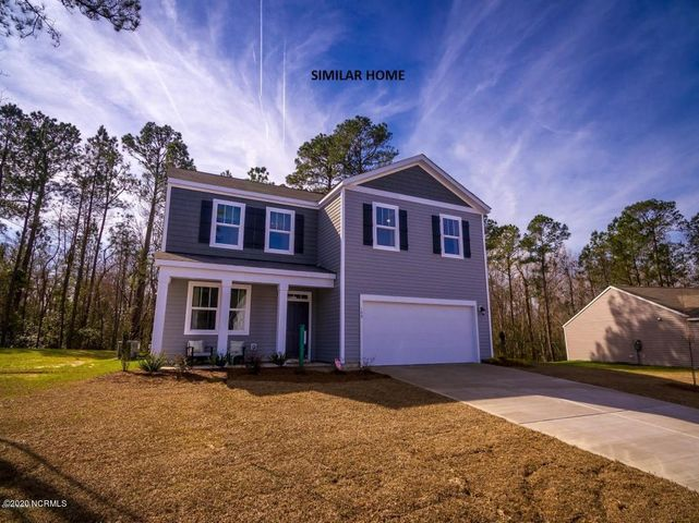 D. R. HORTON AMERICA'S #1 HOME BUILDER IS NOW BUILDING BEAUTIFUL NEW HOMES IN CARTERET COUNTY! Every home is a Smart Home, equipped with video Skybell, Pro Z-Wave Thermostat & Lights and more. (Refer to America's Smart Home and River East Feature Sheet under documents for more info.) The Galen is one of DR Horton's most popular floor plans, because it offers an open layout with a versatile flex room on the main floor. The kitchen has granite counter tops, a pantry and all appliances are stainless steel. There is also a nice size great room for enjoying time with your family and friends. Upstairs is where you will find the owner's suite with a private bath and 3 more bedrooms. Close to beach and shopping in Emerald Isle and Swansboro. All buyers receive up to $3,500 towards closing costs when using DHI Mortgage and preferred attorney. (PHOTOS NOT OF ACTUAL HOME BUT ONE SIMILAR-OPTIONS/COLORS MAY VARY)