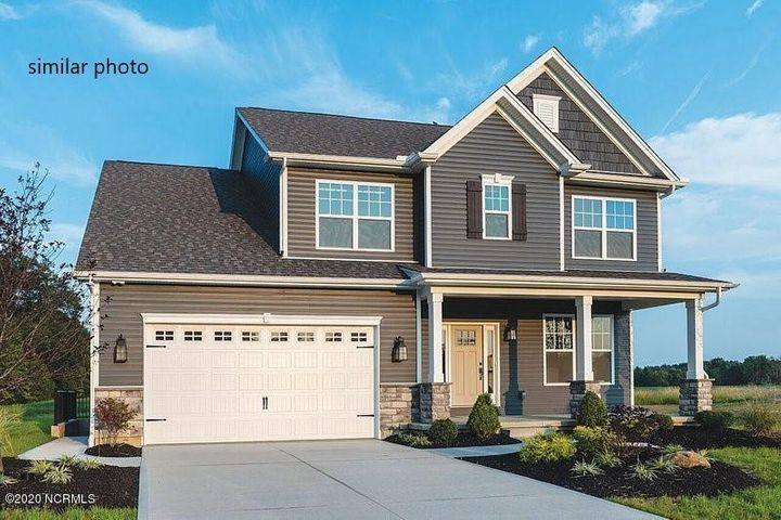 Be the first to own a Middleton floor plan in Coldwater Creek! Built by O'Brien & Sons Construction, this new home is everything you've been searching for! The Middleton is a 3 bedroom, 2.5 bath plan that features a downstairs master bedroom with large walk-in closet, an en suite bathroom with dual vanities, additional cabinetry, a walk-in shower and separate bathtub. The plan also boasts a large pantry and an island in the kitchen. When you enter the home from your generous covered porch, you'll be greeted by a large foyer and stylish barn door that will open to you flex space. The flex space great as a home office, formal dining area, extra living room or a nursery. This home will also come with a built-in mudroom space by the laundry room; perfect for stashing book bags and coats. The flooring will be luxury vinyl plank and carpet. Purchase early so that you can pick your colors! CARTERET county school system. Convenient location in established neighborhood....Cape Carteret, Emerald Isle beaches, shopping, schools, recreational activities and more!  Approximately 30 minute drive to Camp Lejeune.  Low county taxes and no HOA dues.  New under construction home ready for an owner to personalize and enjoy!