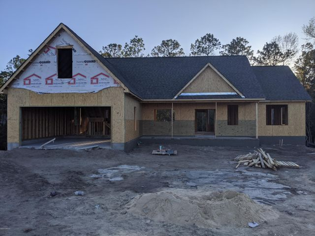 New Construction Now In Shadow Creek Estates. 4 Bedroom Ranch ( 4th Bedroom/Bonus) 2 Bath with Split Plan. Home features 9Ft Smooth Ceilings, Granite Kit. Counter tops, LVP Flooring on Main level and Carpet in Bonus, SS Appliances.  Covered Front porch. Located just 2 miles off Hwy. 24. Con to Military Bases,Beaches,Shopping and Schools. Time to Pick Colors.Plans subject to change