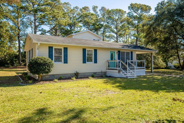 Water access is an added bonus to this lovely 3 bedroom, 2.5 bath home with bonus room and office in the Bar Harbor Subdivision of Carteret County. Kitchen was completely renovated in 2018 featuring granite counter tops, backsplash and waterproof laminate flooring. HVAC and hot water heater are both less than two years old. There is plenty of room for a living room and family room or a home office. This home was built in 1986 with a large private suite added on the second floor in 2007 featuring its own deck. New gutters and landscaping compliment this must see home. Home is located on a high, dry lot although it's near the ICW.  Croatan High School Broad Creek Middle and Bogue Sound Elementary are all top rated schools.  Schedule your appointment now. Water access is at the end of Harbor Drive. Seller is offering $5,000 to Buyer to use as they choose at closing.