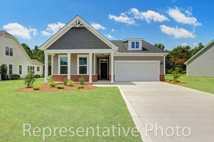 Welcome to the Belair by H&H Homes. Ideal one story living in a great community in the heart of Hampstead. The Belair is a 3 bedrooms and 2 baths. Great open floor plan leading to an included covered porch.