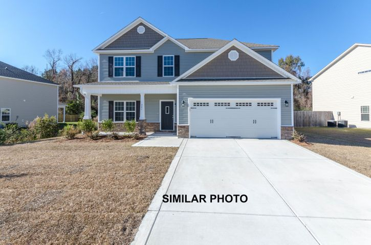 Welcome to Jacksonville's hottest new community, Stateside. Located off of Gum Branch Road behind Stateside Elementary School. All new construction by Onslow County's most trusted and preferred Builder featured in Builder 100/ Top 200 Home Builders in the country. Stateside is 16 miles to Camp Lejeune, 12 miles to New River Air Station and minutes to area schools and shopping. A beautiful new community for active and growing families. Upcoming community amenities will include clubhouse area and community pool.Introducing the Sydney floor plan which boasts 4 bedrooms and 2.5 bathrooms at approximately 2,110 heated square feet. The exterior of this home is quite charming with easy-to-maintain vinyl siding, accented by stone or brick. The covered front porch is  waiting for your rocking chairs and hanging baskets. All surrounded by a sodded front yard with a clean, classic landscape. The foyer welcomes you in, opening to the formal dining room. Ideal for hosting those special occasions such as birthdays, holidays, etc. The chef in the family is sure to fall in love with the kitchen! Flat panel, staggered cabinets, a large pantry, and an island. Stainless appliances include a smooth-top range, microwave hood, and dishwasher. Enjoy your morning coffee in the breakfast nook. The family room, approx. 17'x15', boasts a ceiling fan and an electric fireplace, surrounded by marble and topped with a custom mantle. All bedrooms are found upstairs. The master suite is sure to impress. Approximately 18'x13', the master suite features a ceiling fan, trey ceiling, and walk-in-closet. ''Get away from it all'' in the luxurious master bathroom! Double vanity topped with cultured marble counter, full view custom mirror, tile flooring, separate shower, and soaking tub. Bedrooms 2, 3, and 4 are perfectly sized and prewired for ceiling fans. Chores are made easier with the separate laundry room upstairs. Entertain guests, or just relax, on the covered back porch. The perfect place to enjoy