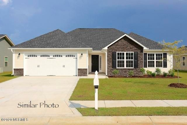 Welcome to Jacksonville's hottest new community, Stateside. Located off of Gum Branch Road behind Stateside Elementary School. All new construction by Onslow County's most trusted and preferred Builder featured in Builder 100/ Top 200 Home Builders in the country. Stateside is 16 miles to Camp Lejeune, 12 miles to New River Air Station and minutes to area schools and shopping. A beautiful new community for active and growing families. Upcoming community amenities will include clubhouse area and community pool.  Introducing the Vienna floor plan which features 3 bedrooms and 2 bathrooms at approximately 1,583 heated square feet. The exterior is quite charming with easy-to-maintain vinyl siding accented by stone or brick. All surrounded by a sodded front yard with a clean, classic landscape. The foyer welcomes you in, opening to the living room. Approximately 19'x14', the living room boasts a vaulted ceiling, ceiling fan, and a cozy electric fireplace surrounded by marble and topped with a custom mantle. The chef in the family is sure to fall in love with the kitchen! Ample amount of cabinet and counter space, a bar for extra seating, and a spacious pantry. Stainless appliances to include a smooth-top range, microwave hood, and dishwasher. Kitchen opens to the dining room. The master suite has an alluring trey ceiling, ceiling fan, and a HUGE walk-in -closet. Master bathroom offers a double vanity topped with cultured marble, full view mirror, ceramic tile flooring, separate shower and soaking tub. Bedrooms 2 and 3 are perfectly sized and prewired for ceiling fans. Chores are made easy with a large laundry room which leads out into the attached 2 car garage. Host BBQs on your open patio! All backed by a one-year warranty by a top, local builder. Call today! NOTE: Floor plan renderings are similar and solely representational. Measurements, elevations, and design features, among other things may vary in the final construction. Call to verify. Welcome Home.