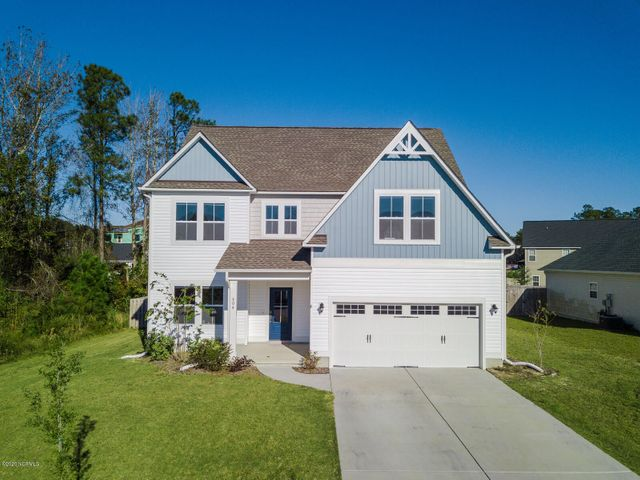 Welcome home to the Arbors of Surf City! This home has a Hampstead address, is in the Surf City/Topsail school district, and is a short distance to the beautiful beaches of Topsail Island! This home has 4 bedrooms plus a bonus room upstairs, AND flex room on the ground floor. Luxury Vinyl Plank flooring in the open living area, formal dining room, gas fireplace, stone grey cabinets, granite countertops with backsplash, and GE stainless steel appliances, including the fridge! The spacious master bedroom will fit most any furniture, and has BOTH a walk in tile shower and soaker tub with double vanity sinks. The fenced back yard has a deck that's great for grillin' and chillin'! There's a community pool, picnic area, and water access/kayak launch with a dock, plus the trash bill is included with your Surf City taxes! Located less than 5 minutes from  the Harris Teeter shopping center & Lowe's Home Improvements, maybe 10 minutes to the schools, and central to Jacksonville and Wilmington for those who want to be halfway to either town. MARSOC and Camp Lejeune are an easy commute as well! This home is like new and in move in condition.... schedule an appointment with a Realtor to see it and call it HOME for the Holidays!