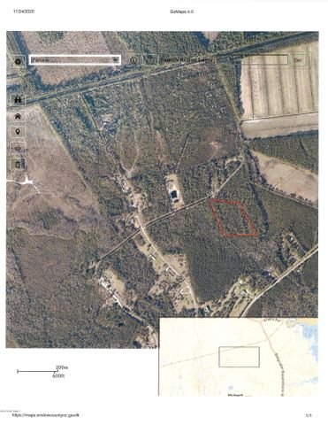 Approx 6.6 acres located in the Hubert area off Parkertown Road.    Situated on a privately maintained dirt road.