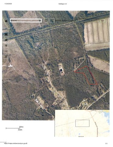 Approx 7.3 acres located in the Hubert area off Parkertown Road.    Situated on a privately maintained dirt road.