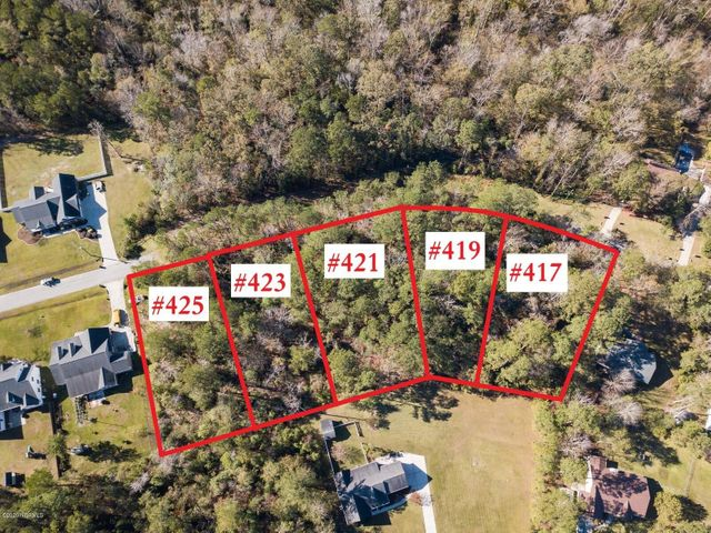 Build or invest in one of 9 undeveloped lots offered for sale on the southwest side of Jacksonville NC! Totaling  0.58 acres, this parcel is not in city limits and has minimal protective covenants but NO HOA! The seller had topo and boundary surveys completed, as well as soil evaluations, ask for a copy of the maps to review. No special flood hazard area on this lot! If you are a builder, put a spec home up with a good floorplan priced right and it will sell with this awesome location. Candlewood is a state maintained road, according to the DOT website, so there may be hope for this section of unpaved, undeveloped road to be taken over by the state if improved. Call a Realtor today for more information on this opportunity!
