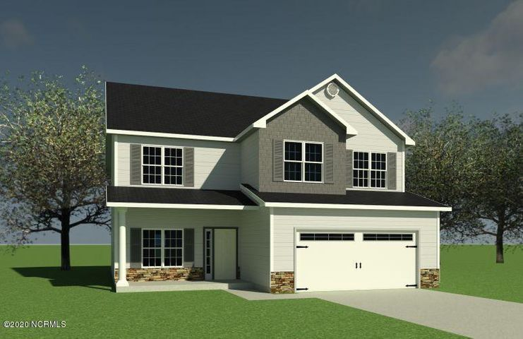 Grayson Presale. Covered front and back porches, flex space, living room with corner fireplace, kitchen, breakfast area, laundry room, powder room, mud room, 2 car garage downstairs. Owner's suite with 2 walk in closets, separate tub from shower, and dual sink vanity. All 3 other bedrooms also have walk in closets.*Buyer to verify schools. Room dimensions and heated square footage may vary. Builder reserves the right to alter floor plan and features. Photos and cut sheets are representations only. *This lot contains some 404 Wetlands