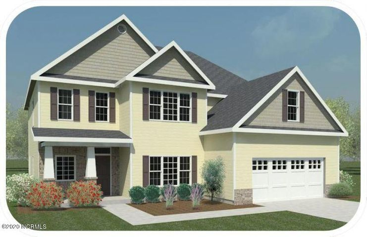 *Builder is offering $5000 in Use As You Choose! Welcome to the fabulous Laura E in Oyster Landing. The Classic Carolina curb appeal welcomes you in to the soaring two story foyer. The seamless LVP flooring flows from the gorgeous formal dining room into the lovely living room complete with a cozy fireplace. Fall in love with the kitchen! From the dedicated breakfast area, the staggered cabinets featuring a desk area and an island, to the smooth granite counters and stainless appliances, the heart of this home has everything you have been dreaming of! Rounding out the downstairs is a full bedroom with its very own walk in closet and en suite bath. Upstairs you will find FOUR more bedrooms including the true owner's suite. This space has a tray ceiling, its own sitting room, TWO walk in closets, and a huge en suite bath. The three secondary bedrooms share two more full baths giving this home tons of possibilities. Do not miss your chance to make this Laura E your new home, call us today for more information and a private tour! *Buyer to verify schools. Room dimensions and heated square footage may vary. Builder reserves the right to alter floor plan and features. Photos and cut sheets are representations only. Ex. photos are of a Laura D floorplan and show a slightly different layout.