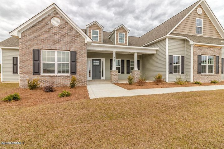 $5000 Use As You Choose!Swansgate welcomes Sydes Construction and the Massey 3196 floor plan. This home features 4 bedrooms along with a bonus upstairs that has two walk-in closets and a full bathroom! This masterpiece has a tremendous amount of space, including formal dining room, large walk in closets and a laundry room just off the master walk in closet. The exterior of the home is quite charming with landscaping including sod in the front yard. The foyer makes a great impression upon entering the home. As you enter the home, you will discover the formal dining room making this the perfect room for entertaining and enjoying company. The kitchen is equipped with stainless steel appliances such as smooth-top range, microwave hood and dishwasher. Also included are beautiful countertops, an island with the kitchen sink inside, and single lever pull out faucet. This home features a very spacious family room with fireplace and a large covered back porch that goes out to a huge back patio. The upstairs master suite features a decorative trey ceiling, huge walk-in closet, ceiling fan, and is connected to the master bathroom. This bathroom has a tub and separate walk-in shower! Upstairs features 4 bedrooms, one of them is the Master Bedroom with connected bathroom! All rooms feature walk-in closets and are pre-wired for cable, as well as ceiling fans. A 2 car garage completes this beautiful, one-of-a-kind home! The front porch is also covered as well. Located in the heart of Swansboro within a short distance to the beautiful and world-renowned Hammocks Beach State Park. Close to shopping, bases, dining and of course the beach! You cannot go wrong with this home in this ideal location. Proximity to schools and a peaceful community add to the charm of this area. Note: Floor plan renderings are similar and solely representational. Measurements, elevations, design features, among other things, may vary in the final construction.