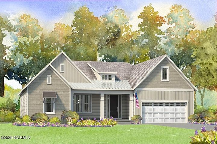 Be one of the first to own this extraordinary Otter floor plan by American Homesmith in Magnolia Reserve. This stunning 4 bed, 3 bath has 9' ceilings! Walk in from the covered front porch and into the gracious foyer. Straight ahead is the wide open living area. You will adore the living room that boasts a cozy shiplap trimmed fireplace! This spce opens up into the dining/breakfast area which in turn walk out onto the massive covered back porch. The kitchen features a huge island, custom lighting, QUARTZ countertops, and the largest pantry we've seen in a long time! The owner's suite is at the back of the house and has fabulous custom touches like a tray ceiling, an optional barn door leading to the en suite bath, dual sink vanities, an oversized tiled shower, and a large walk in closet. The other two bedrooms downstairs are nicely sized and share a second lovely full bath. And this otter comes with a bonus surprise up the stairs! A fourth bedroom complete with its own full bath and closet along with a big walk in unfinished storage space. Do not miss out on your change to call this charming home YOURS! Magnolia Reserve is a gorgeous new neighborhood in the Surf City/Hampstead area with an easy commute to shopping, restaurants, services, and yes! BEACHES! American Homesmith adds all those extra touches you've been looking for so that you can move in and start living that beach life right away. Don't miss out on seeing these elegant homes by this phenomenal builder, make your appointment to be wow'ed today! **Similar Photos, renderings, and cut sheets are representations only. Builder reserves the right to alter floorplan and features. Ex. In keeping with the beach cottage look of the neighborhood, there will be no stone or metal roof on the exterior**Buyer to verify schools
