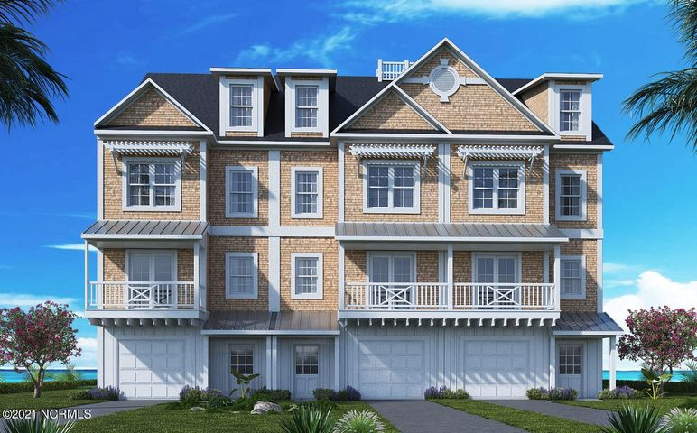 Pre-construction prices are subject to change by the developer based on current construction costs. Luxury, waterfront townhomes are now available by reservation in the newly developing Inlet Cove on Radio Island. The best of both worlds, this prime location is just minutes by boat or car to Downtown Beaufort and Downtown Morehead City! Townhome owners are eligible to purchase an adjacent boat slip in the private and protected marina that provides easy access to the Beaufort Inlet and the ICW. Only some slips are available for these buildings, please check with the agent for details. Each spacious townhome will feature 3 bedrooms and 3.5 baths (with an optional 4th bedroom and full bath on the ground level), elevator shaft with optional 4-stop elevator addition, open concept living area, granite counters in kitchen, stainless steel appliances, single car garage, attic storage and ample closet space. There will be a total of 15 buildings comprised of a variety of: duplex, triplex, quadraplex, pentaplex and multiplex buildings. Exterior siding is cedar shake siding on floors 2 and 3 and fiber cement board & batten siding on floor 1. Inlet Cove amenities will include: community outdoor pool, community open-air clubhouse and access to the private marina. The Radio Island public beach access with bath facilities is conveniently nearby. Reserve your coastal townhome and boat slip today! Boat slips are dependent upon draught and beam of the vessel. The square footage was provided by the developer and is subject to change during the construction process.