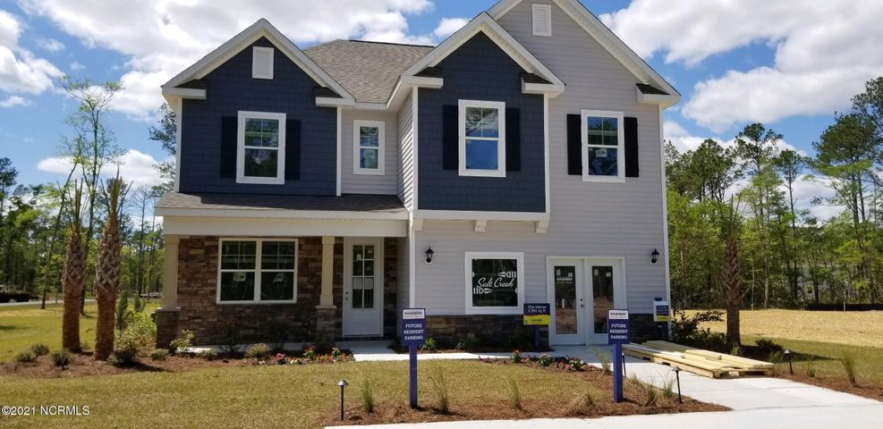 D. R. HORTON AMERICA'S #1 HOME BUILDER is now building beautiful new home Hwy. 24 directly across from Croatan High and Bogue Sound Elementary Schools. (These new schools as well as Broad Creek Middle are NC Schools of Excellence.) Every home is a Smart Home, equipped with video Skybell, Pro Z-Wave Thermostat & Lights and more. (Refer to America's Smart Home and Salt Creek Included Features under documents for more info.) The Glynn is one of DR Horton's most popular floor plans because it offers an open floor plan with a versatile flex room on the main floor. The designer kitchen has large pendant lights over the island, granite countertops, a walk-in pantry and all appliances are stainless steel. There is also a large great room with a fireplace and a rear covered porch for enjoying time with your family and friends. Upstairs is where you will find the owner's suite with a private bath and 3 more bedrooms .Salt Creek is in a prime location with beaches in either direction, coastal living, boat ramps nearby, and easy access to all shopping. All buyers receive up to $3,500 towards closing costs when using DHI Mortgage and preferred attorney. (PHOTOS NOT OF ACTUAL HOME BUT ONE SIMILAR-OPTIONS/COLORS MAY VARY)