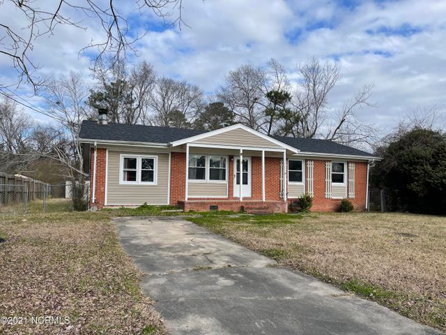 This house has the potential to become a home. 3 bedrooms, 1 full and a half bath, spacious living room with fireplace, chain-link fence and is centrally located in the heart of Jacksonville. Close to schools, shopping, and base access. Home is being sold as is. New roof and HVAC system installed in 2019. Schedule your viewing today!