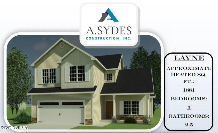 *Builder is offering $2500 in Use As You Choose! Be the first to own a Layne by A. Sydes Construction, Inc. in Oyster Landing! Walk in from the large covered front porch and into the foyer of this sweet home. To one side is a Flex space that would make a fantastic formal dining area, office, sitting area...whatever you need. To the other is the gracious staircase. Continue back into the living room complete with cozy fireplace and then on into the spacious kitchen area. This space boasts an oversized eat in area, an island, a huge pantry, and stainless appliances. A powder room rounds out the downstairs and it is time to head up! The owner's suite in this home is just gorgeous! The large bedroom features a tray ceiling and the en suite bath contains a separate soaking tub from shower, a dual sink vanity, and a nice walk in closet. The other two bedrooms upstairs are good sized and share a second full bath. And the laundry is located upstairs for convenience. What are you waiting for? Make your appointment to see this one today before it's gone! *Buyer to verify schools. All similar photos and cut sheets are representations only. Builder reserves the right to alter floorplan and features. *This lot contains some Wetlands.