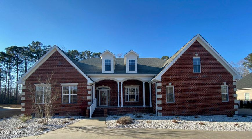 Gorgeous, brick, one story, 3 bedroom, 3.5 bath home in the highly desired and exclusive gated community of Williams Farm. This house sits on 1.27 acres with a wooded tree lined backyard.  Open floorplan with over 3600 square feet.  Inside features a formal dining room, office, wide open living room, huge kitchen, sunroom/three seasons room, three bedrooms and 2.5 baths in the main house.  There is also an additional bonus room over the garage with a full bathroom.  Floors are hardwood and tile throughout, no carpet at all!  Williams Farm is a gated community with the amenities of a clubhouse and a swimming pool.  Come check out this house today before it's gone