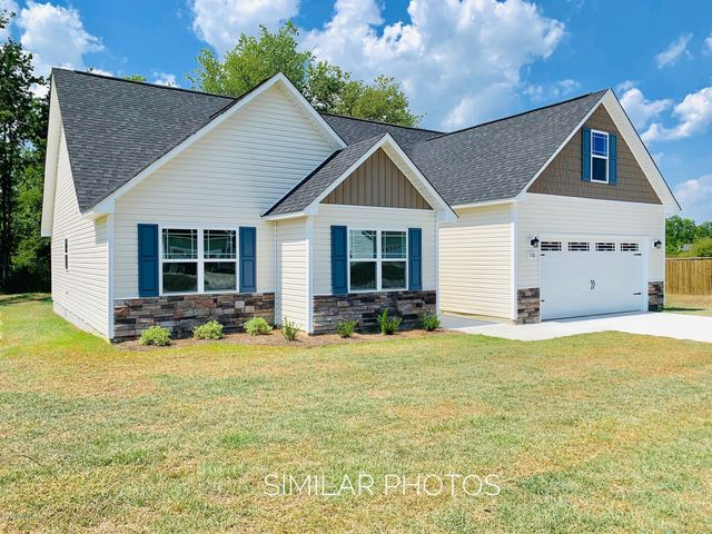 Westfield is now accepting offers on new construction quality low maintenance homes with something to please everyone! This particular lot displays the CELENE W/BONUS floor Plan!  Make your selection from the list of houses already for you to move right in or get with your agent and choose the lot, the plan the colors and the finishings to make your house your home! This neighborhood offers some of the best schools in Onslow county along with family community events, shopping and mouth watering foods available just minutes away!Get in NOW on the ''ground floor'' of the construction phase to build quick equity in your home investment! Go ahead, make that call TODAY and make your dreams come true!Lockbox will be installed as soon as home can be secured. ***These are similar photos and color selections may vary.***