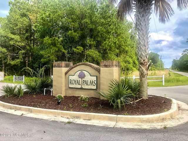 Would you love the opportunity to build in the beautiful gated community of Royal Palms and even potentially obtain seller financing? You can choose your own builder or the listing agent can help you find the perfect one. This gorgeous large marsh front lot is located at the mouth of Turkey creek where it opens to the Intracoastal Waterway, offering amazing views and is located just across from the wildlife boating access. Located near the area bases and Topsail Beach.