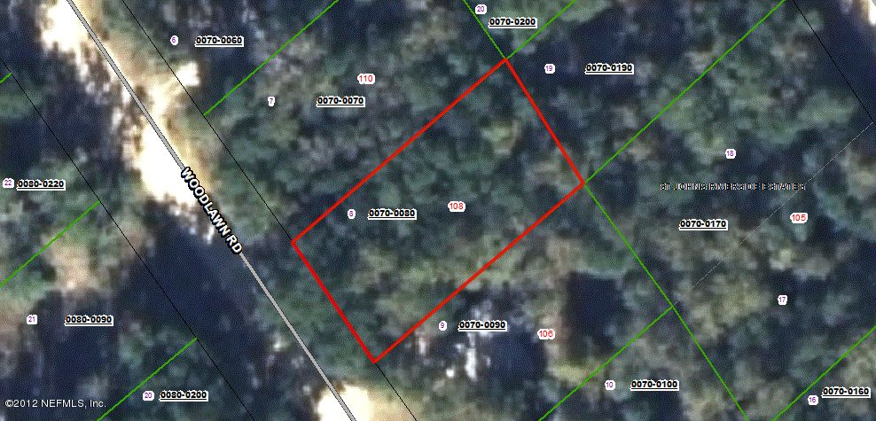 108 WOODLAWN, SATSUMA, FLORIDA 32189, ,Vacant land,For sale,WOODLAWN,625970