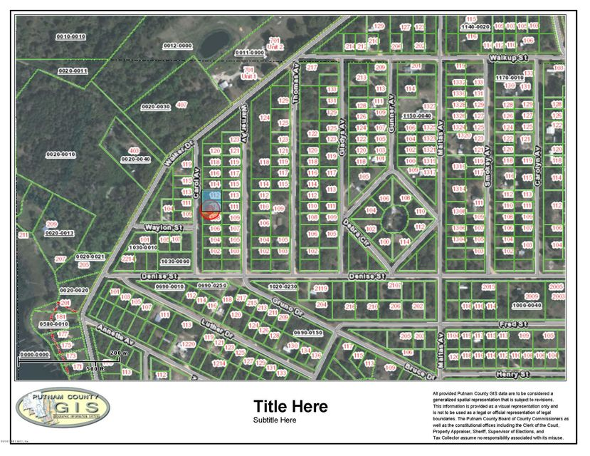 110 CAROL, INTERLACHEN, FLORIDA 32148, ,Vacant land,For sale,CAROL,815772