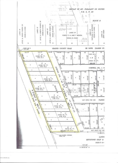LOT # 6 21B / 8TH, KEYSTONE HEIGHTS, FLORIDA 32656, ,Vacant land,For sale,21B / 8TH,873614