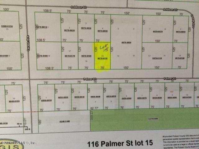 116 PALMER, INTERLACHEN, FLORIDA 32148, ,Vacant land,For sale,PALMER,898317