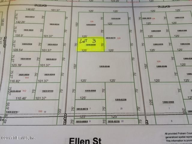 00 ELLEN ST, INTERLACHEN, FLORIDA 32148, ,Vacant land,For sale,ELLEN ST,898652