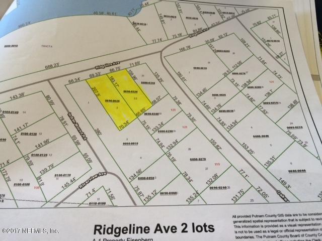 143 RIDGELINE, SATSUMA, FLORIDA 32189, ,Vacant land,For sale,RIDGELINE,898497