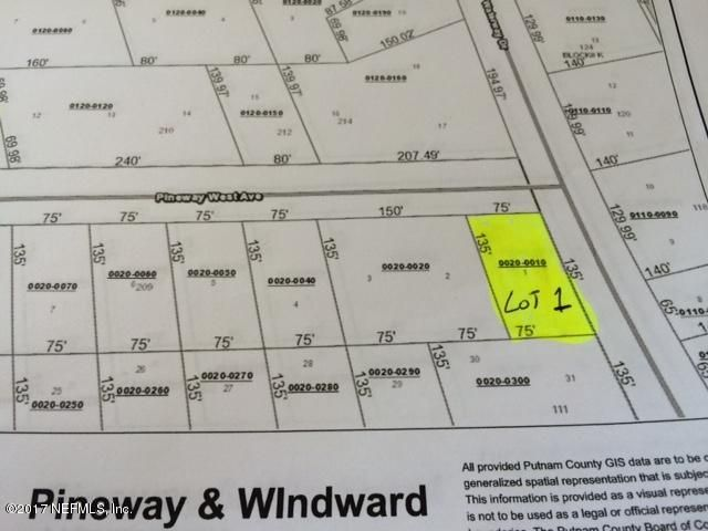 00 CORNER PINEWAY WEST & WATERWAY, SATSUMA, FLORIDA 32189, ,Vacant land,For sale,CORNER PINEWAY WEST & WATERWAY,898482